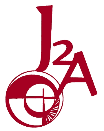 J2A logo in red